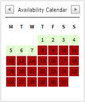 Availibility Calendar